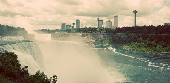 Niagara Falls offers stunning views of natural scenery.